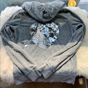 Victoria's Secret PINK Hoodie with sequin heart 🖤
